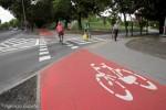 Drogi rowerowe nie na czerwono